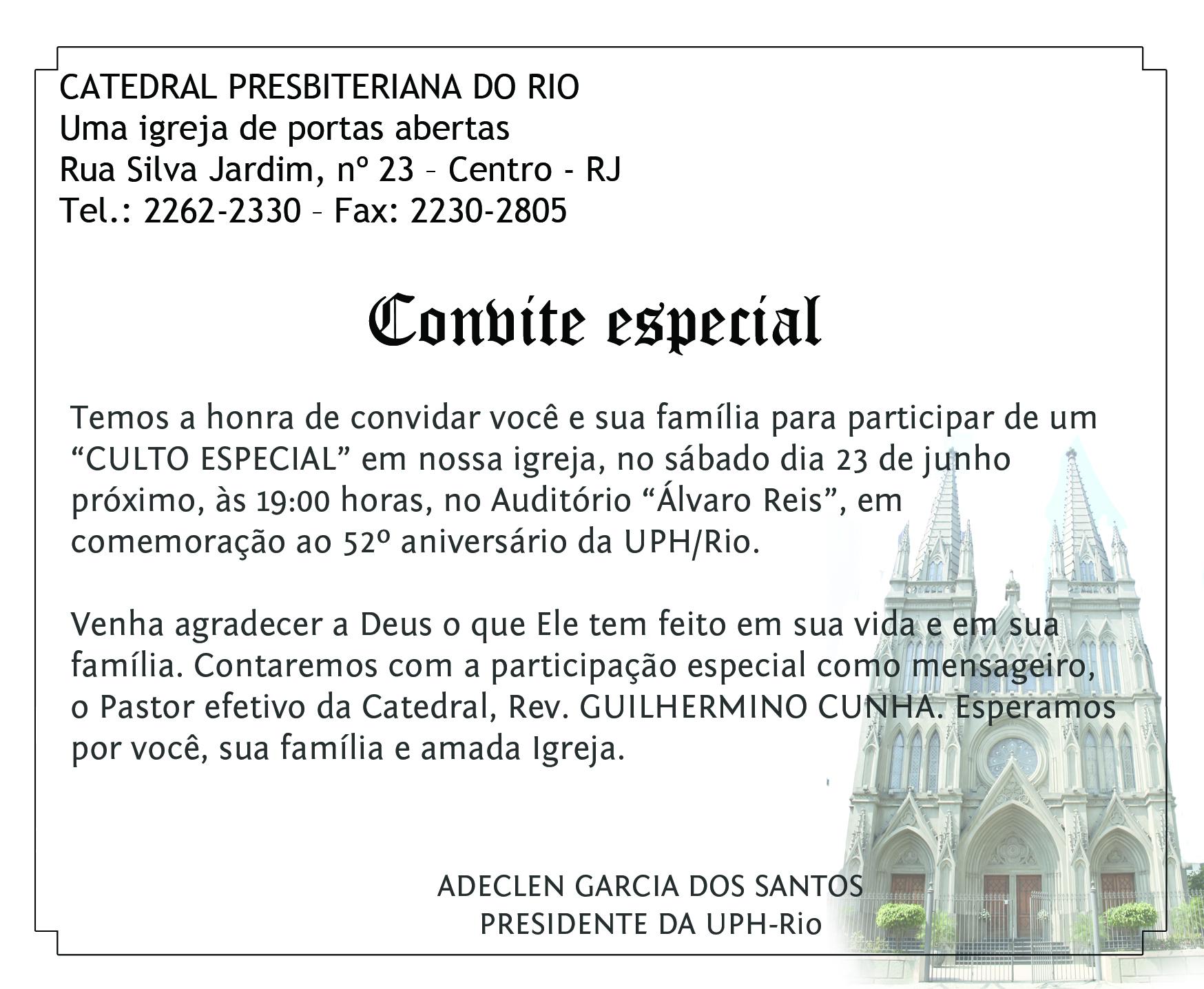 52º Aniversário Da Uph Rio